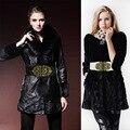 Горячие Продажи Моды для Женщин Пояса старинные вырез поясом пряжкой Эластичные ремни женские Ретро Регулируемая широкий пояс