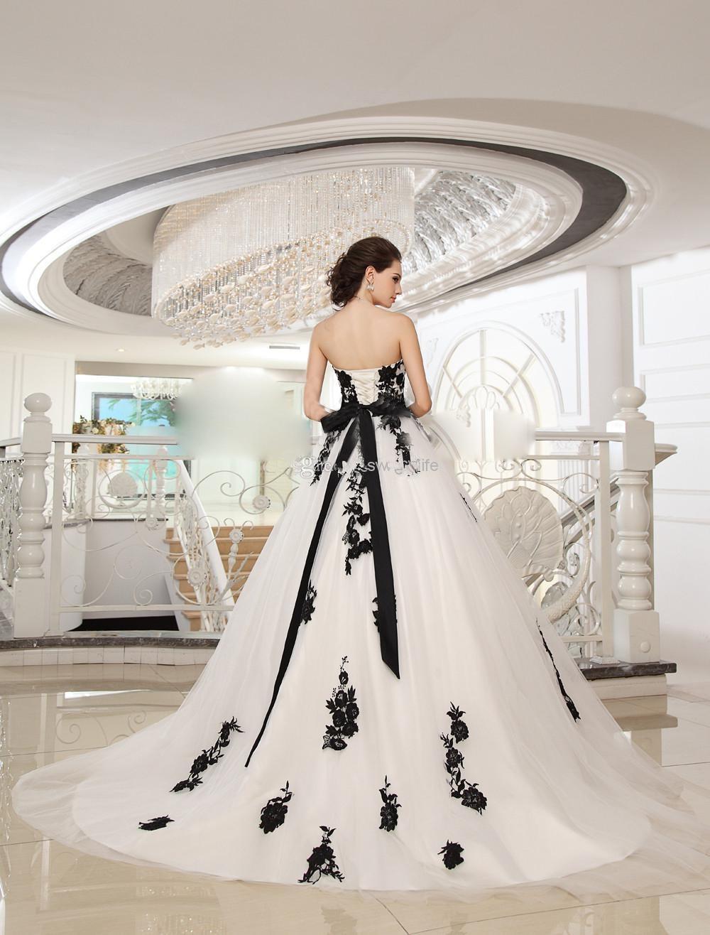 Online Get Cheap Wedding Black White Dress -Aliexpress.com ...