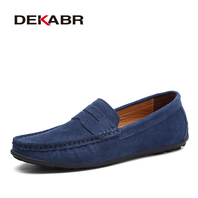 DEKABR Shoes Men Flats Loafers Genuine-Leather High-Quality Summer Brand Spring Lightweight