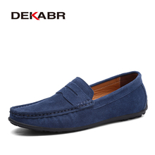 3d1910e0c285 DEKABR Brand Spring Summer Hot Sell Moccasins Men Loafers High Quality  Genuine Leather Shoes Men Flats