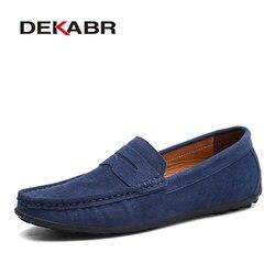 Dekabr marca primavera verão quente vender mocassins homens mocassins de alta qualidade sapatos de couro genuíno homens apartamentos leves sapatos de condução