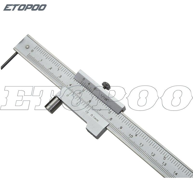 Stainless steel Parallel marking vernier caliper 0-200mm marking gauge with 0.1 carbide scriber marking tools