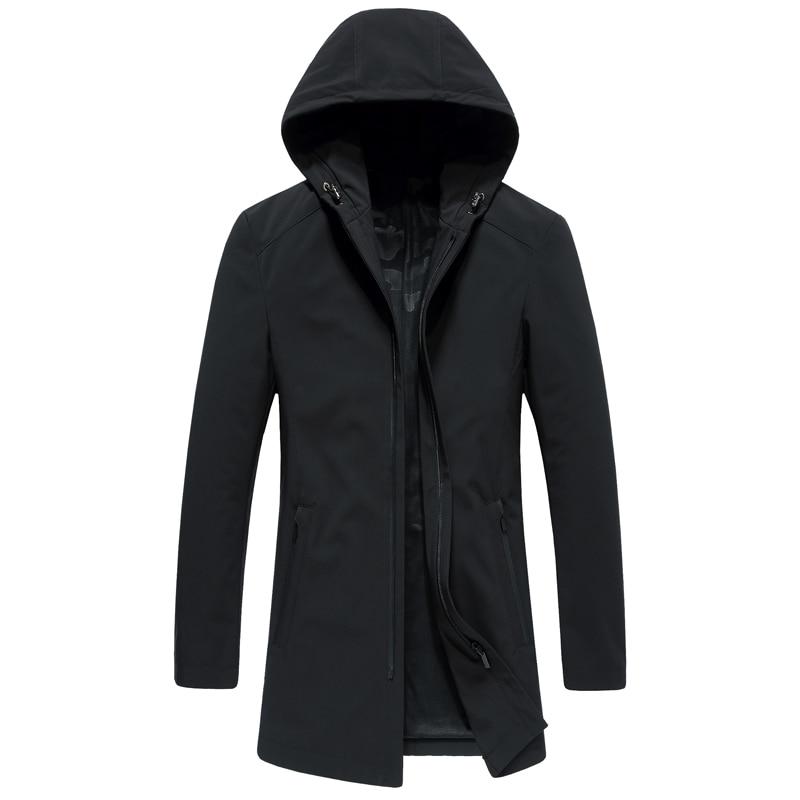 Di Modo di inverno nuova giacca con cappuccio Addensare grande formato blu nero Bianco delle donne giù cappotto - 2