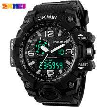 Nueva SKMEI Marca Hombres del Cronógrafo Relojes Deportivos Militar Hombres Analógico LED Digital Reloj de LA PU correa de Pulsera relogio masculino