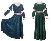 Women brave legend Princess Medieval costume Victorian Renaissa Merida Princess Dress Brave girl Costume Cosplay