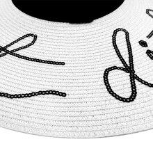 Sequin Letter Sun Hat