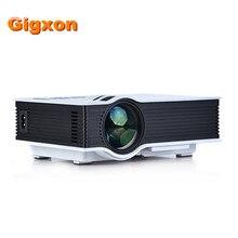 Gigxon-G40 UC40 Portátil Mini LED Proyector Multimedia Home Cinema Teatro 800*480 RGB USB/AV/SD/HDMI 3.5mm de salida de Audio