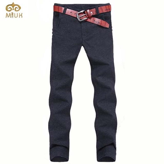 De gran Tamaño de Algodón de Lino Pantalones de Los Hombres 44 42 40 Marca ropa 3 Color Negro Gris Recta Pantalones Pantalones Hombre Pantalones Deportivos 2017 nueva