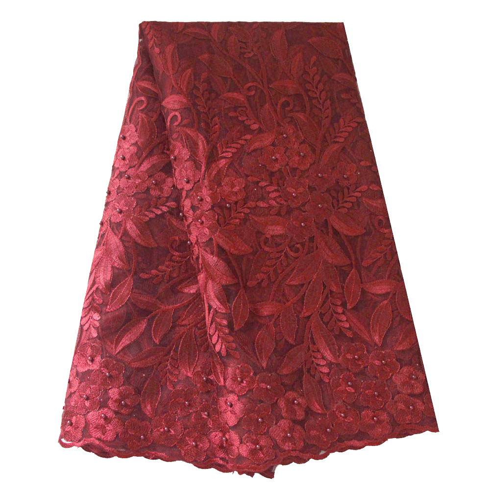 burgundy lace fabric