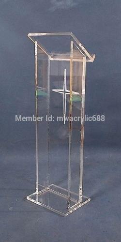 100% QualitäT Kanzel Möbel Freies Verschiffen Heißer Verkauf Deluxe Günstige Klar Acryl Rednerpult, Acryl Podium Acryl Podium