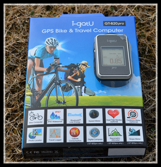 IPX7 Waterproof I-gotu GT-820Pro GPS Bike & Travel computer GPS data logger photo locator Barometric Altimeter Digital Compass
