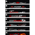 Free shipping Automobile label car Racing stickers for HYUNDAI Front windshield stickers for front window