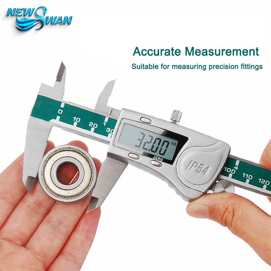 Digital Vernier Calipers Measure 150mm 0.02 Accuracy Micrometer Gauge Measuring Stainless Steel Inspectors IP54 Waterproof