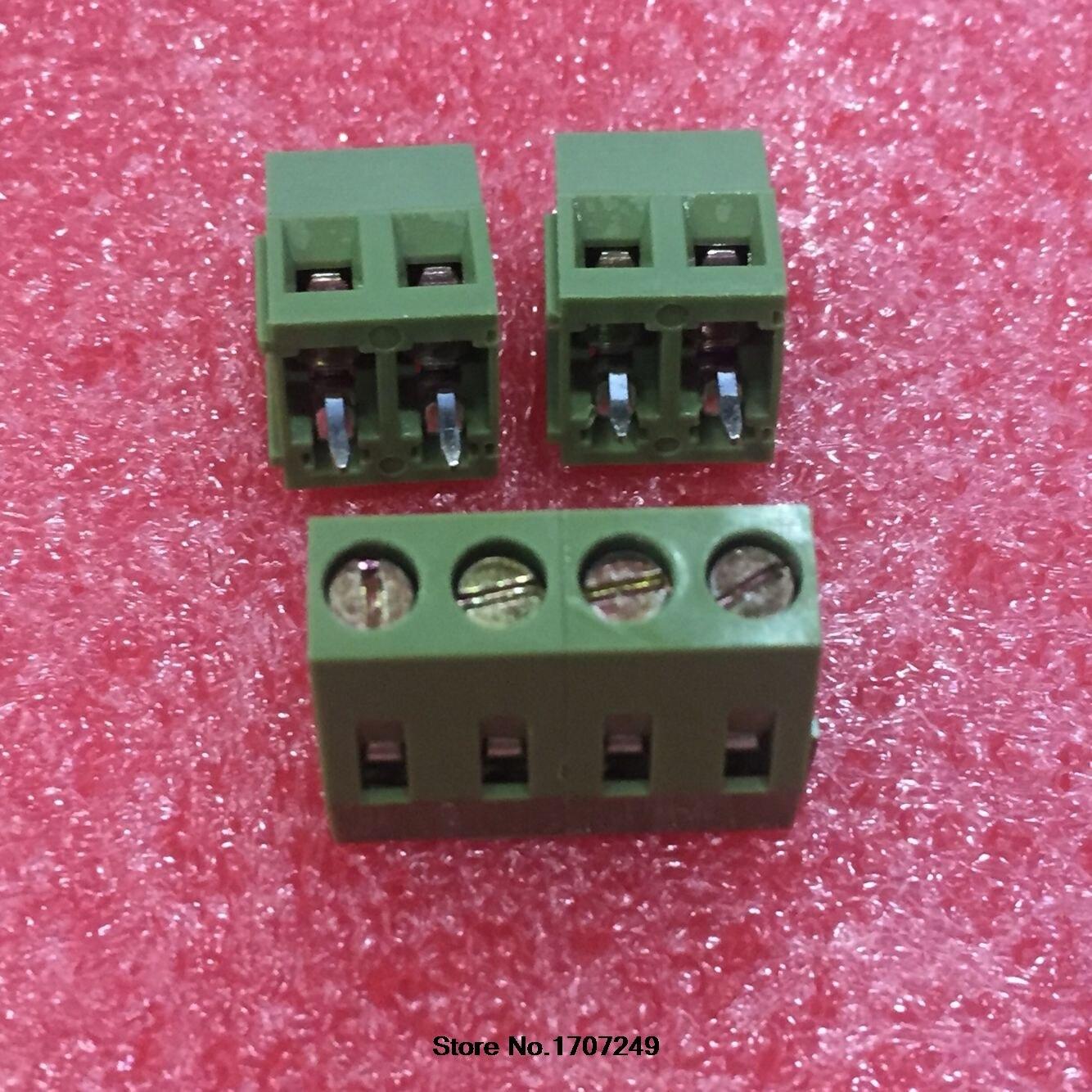 100 Stks Kf128-5.08-2p Kf128-2p Kf128 2pin 5.08mm Hoge Kwaliteit Milieu Koperen Voeten Pcb Schroef Blokaansluiting Rohs