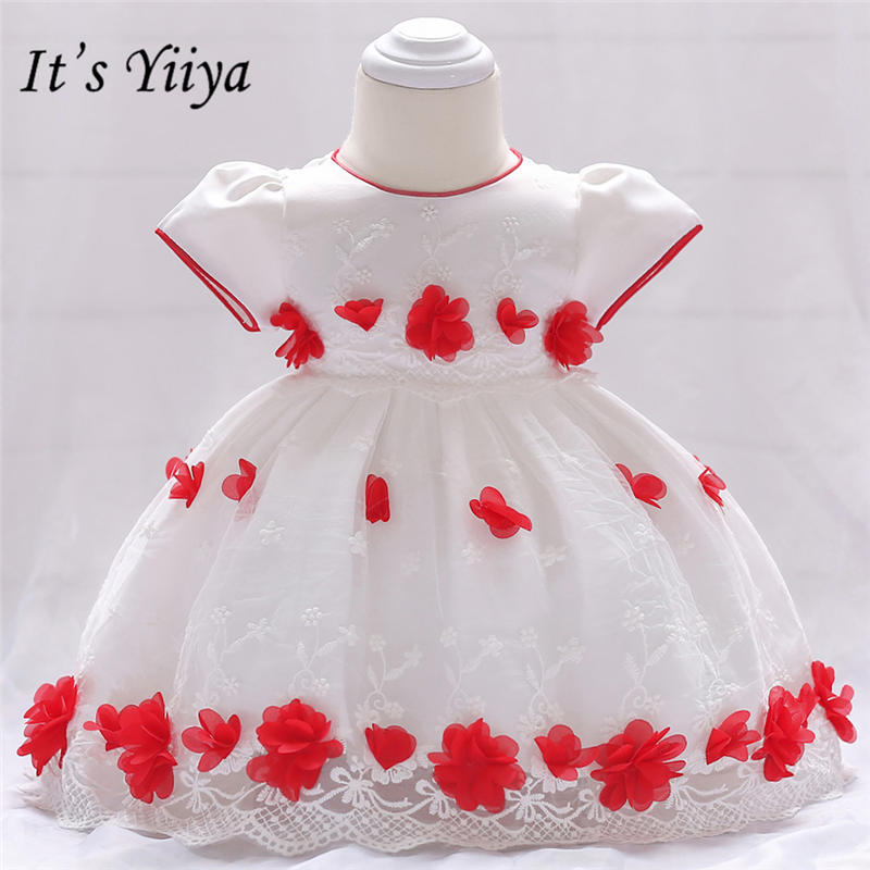 It's yiiya High Quality Embroidery   Flower     Girls     Dresses   Sweet O-neck Little   Girl   Ball Gown MA067