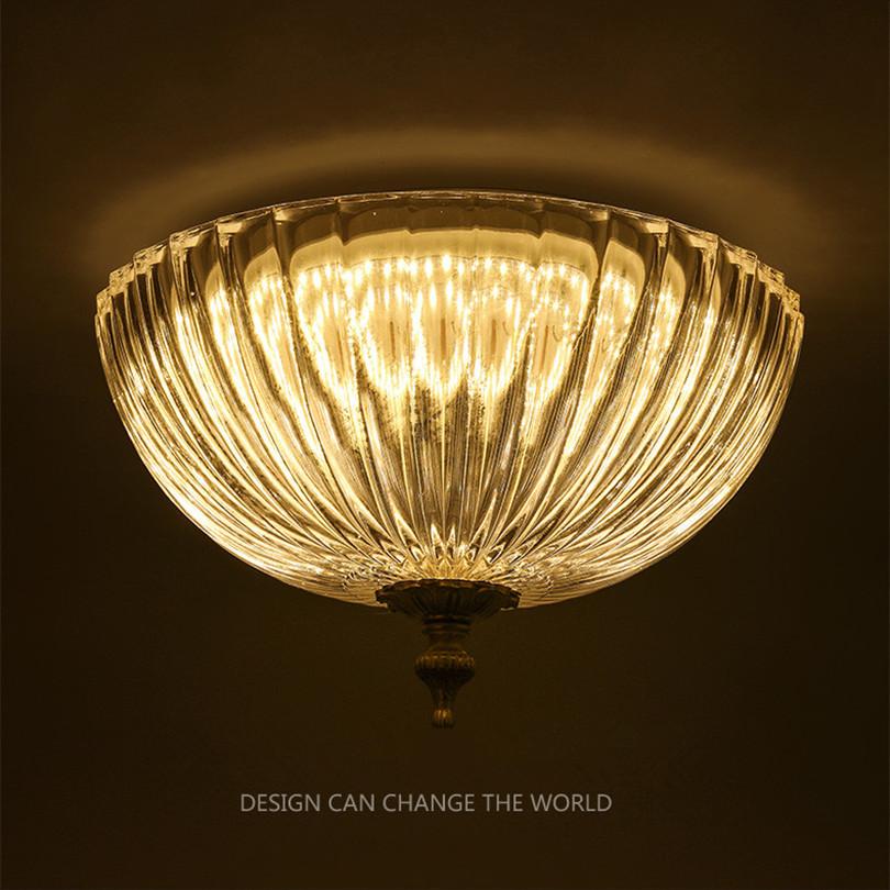 Amerikanischen Retro Lndlichen Eisen Fhrte Deckenleuchten Glanz Glas Korridor Led Deckenleuchte Balkon Luminarie