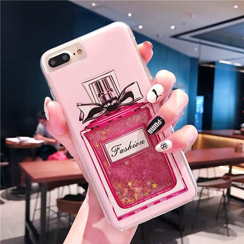 FQYANG Peach Blossom Perfume Patterned Dynamic Liquid Quicksand Transparent  Phone Case For OPPO R15 R11 R9 A79 A83 F9 F7 A77 A71 4111445a9ebc