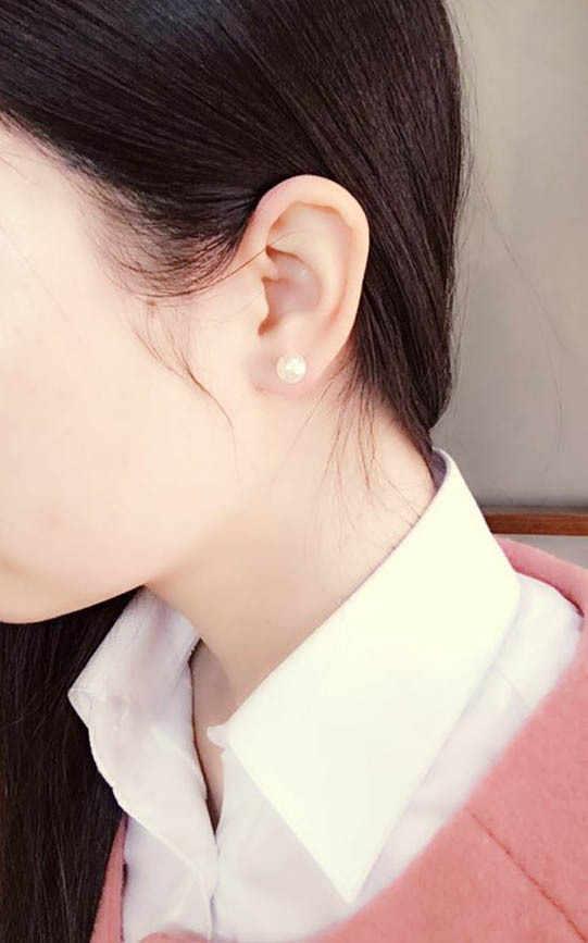 Khuyến mãi @ @ 8 MÉT Nhật Bản và Hàn Quốc đồ trang sức ngọc trai đơn giản bông tai trang sức CHUỖI