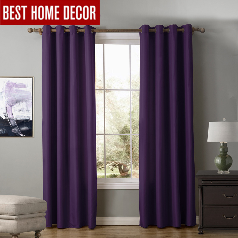 Modern Blackout Curtains For Living Room Bedroom Curtains For Window Blinds  Drapes Solid Finished Blackout Curtains