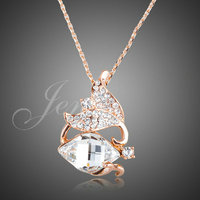 Jenia Brand Jewelry Gold Color Stellux Crystal Pendant Necklace Wholesale for Womne XN073