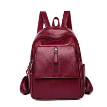Women's Backpack Female Leather Travel Shoulder Bag PU Leather Backpack Girls School Bag Women Backpack Mochila Feminina цена