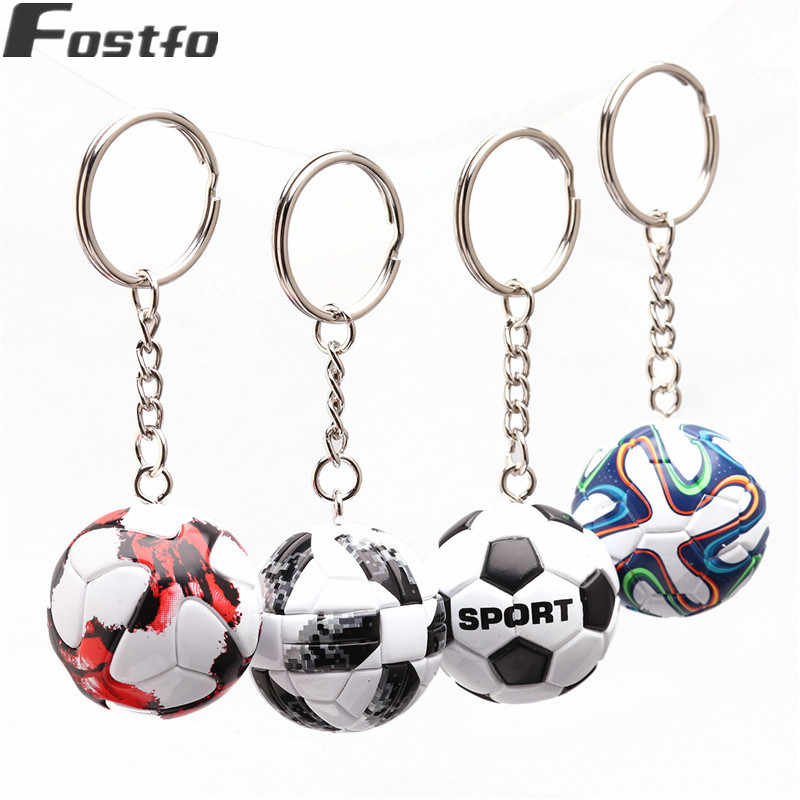 3D Sports Football Key Chains Souvenirs PU Leather Keyring for Men Soccer Fans Keychain Pendant Boyfriend Gifts