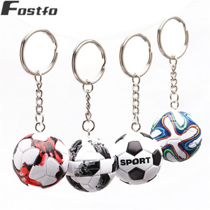 3D Sports Football Key Chains Souvenirs PU Leather Keyring for Men Soccer Fans Keychain Pendant Boyfriend Gifts(China)
