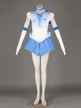 Мода Сейлор Мун Костюмы для косплея Mizuno Ami 1st оригинальной версии, потому что женщины Костюмы платье одежда дропшиппинг