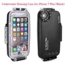 Meikon 40m/130ft Waterproof Underwater Housing Case for iPhone 7 Plus Black Waterproof Underwater Case Cover for iPhone 7 Plus powder case for iphone 7 plus