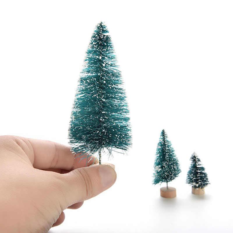 Nova Árvore de Natal UM Pequeno Pinheiro Colocado Na Área de Trabalho Mini Árvore de Natal Decoração Para Casa Natal 3 tamanho 1 pcs