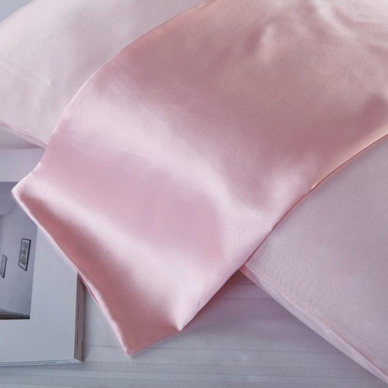 2PCS 22 Momme Silk Pillowcase Hidden Zipper Beauty 100% Nature Mulberry Silk Pillowcase Soft Healthy Pillow Case Cover Home