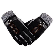 2019 New Gloves Adult Men Winter cotton wool Mittens Fashion Solid Warm gloves