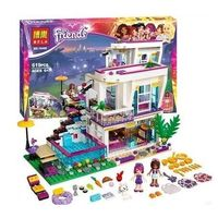 2016 Bela 619pcs Friends Series Livi S Pop Star House Building Blocks Andrea Mini Doll Toy