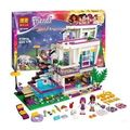 2016 Bela 619 unids Amigos Serie Livi Andrea Pop Star House Building Blocks mini-muñeca de Juguete Compatible con Legoe Amigos 41135