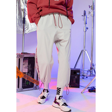 Fashion Womens Hip-hop Elastic Waist Harem Pants 2019 New Arrival Streetwear Baggy Women BF Style Casual Trousers