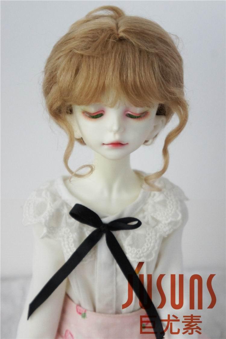 JD160 1/4 MSD Mohair doll wigs  7-8 inch Classical Twist Mohair BJD wigs  Doll accessories uncle 1 3 1 4 1 6 doll accessories for bjd sd bjd eyelashes for doll 1 pair tx 03