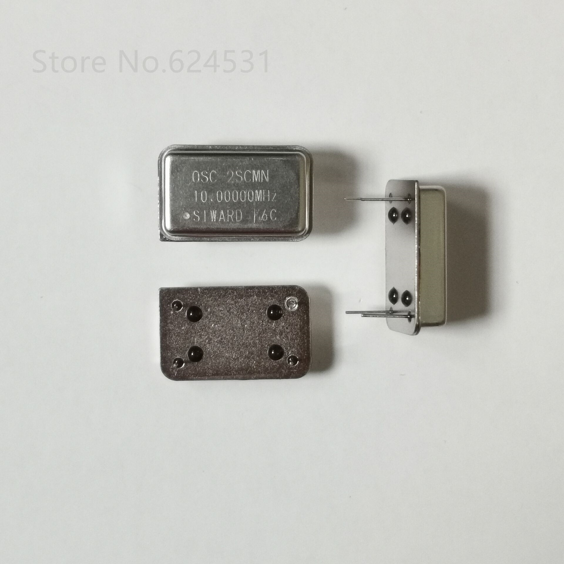 5pcs In-line Active Crystal OSC DIP-4 Rectangular Clock Vibration Full Size 10M 10MHZ 10.000MHZ
