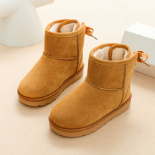 Девичьи зимние сапоги Обувь Дети зимние плюшевые теплые кашемировые Ботинки хлопок детские Обувь Нескользящие модные Ботинки Обувь для мальчиков ботильоны