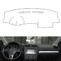 For VW Golf6 GIT 2010 2013 Auto Car Dashboard Cover Avoid Light Pad Instrument Platform Dash