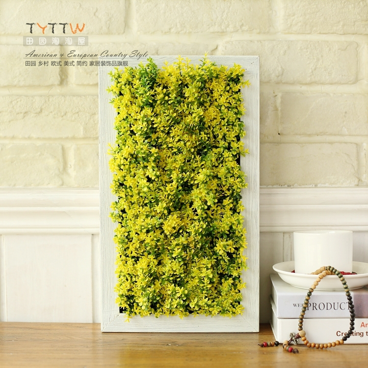 Tao Tao House garden wall decoration wood frame stereoscopic plant ...