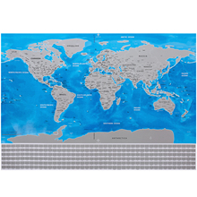 Popular world map flags buy cheap world map flags lots from china 1 pc scratch map blue personalized flag world scratch map mini scratch off foil layer coating poster wall stickers st007 gumiabroncs Choice Image