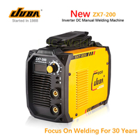 Hot Selling JUBA welder IGBT Portable Welding Inverter MMA ARC ZX7 200 welding machine with electrode holder and earth clamp