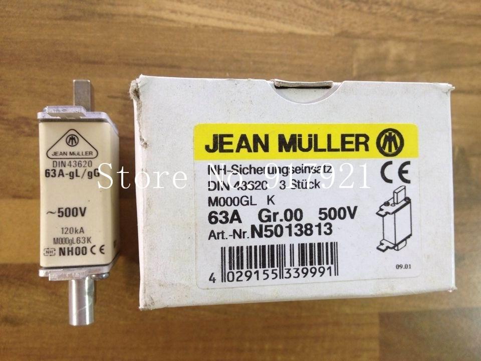 [ZOB] The German JEAN MULLER N5013813 63A NH00 Kim Miller fuse DIN43620 genuine original  --3pcs/lot