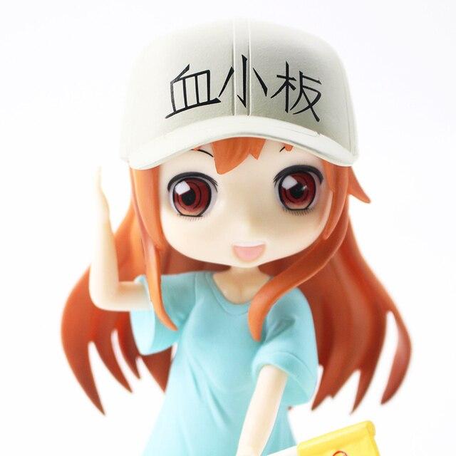 16cm Anime Q Posket Platelet Hataraku Saibou Cells at Work Qposket Ver. PVC Action Figure Collection Model Toy Doll Gift