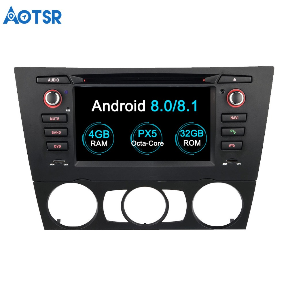 Aotsr Octa core Android 8.0 2 din radio Car DVD Player <font><b>GPS</b></font> navigation For BMW <font><b>E90</b></font> E91 E92 E93 3 Series tape recorder multimedia image
