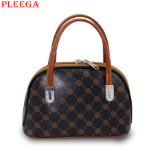 PLEEGA Brand Middle Aged Women Retro Handbag Ladies Tote for Phone, Key, Money,organizer Female Leather Shell Package