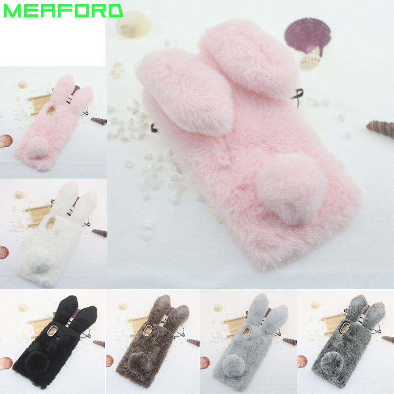 Case For Xiaomi MAX 3 Ultra Thin TPU Soft Cover Rabbit Long Hair Furry Pussy Diamond For MI MAX 3 Phone Case Funda Capa