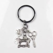 Fashion Jewelry Sewing Machine Keychain, Seamstress Key Chain, Quilters Keychain Silver Dres S Elegant 2019 1pc fashion jewelry mini keychain spider keychain spider web keychain silver dres s elegant diy handmade