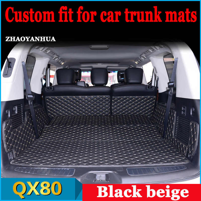 ZHAOYANHUA Custom fit car Trunk mats for Infiniti QX56 QX80 foot case all weather car styling rugs custom perfect carpet liners
