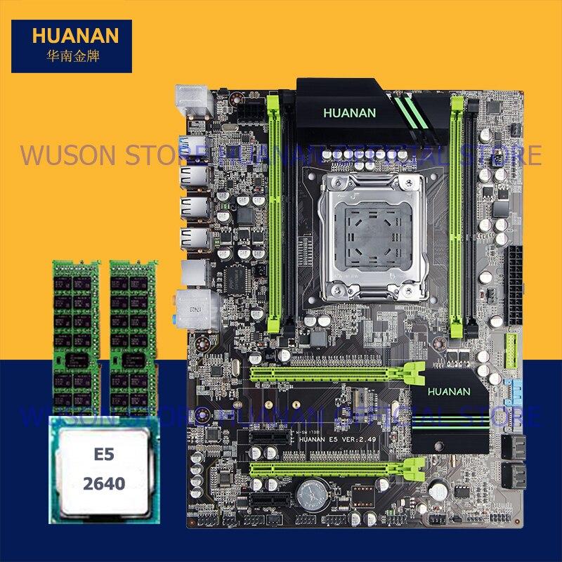 Sur vente bundle carte mère HUANAN ZHI X79 carte mère avec SSD M.2 slot CPU Intel Xeon E5 2640 SROKR 2.5 ghz RAM 8g (2*4g) RECC